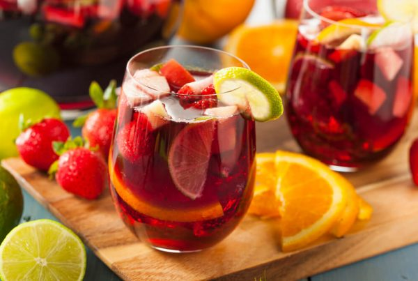 strawberry pineapple orange sangria